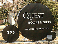 Quest Book Shop sign